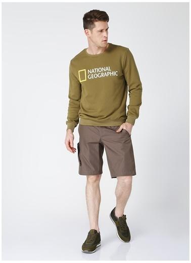National Geographic National Geographic Kapüşonlu Düz Kahve Erkek Şort Kahve